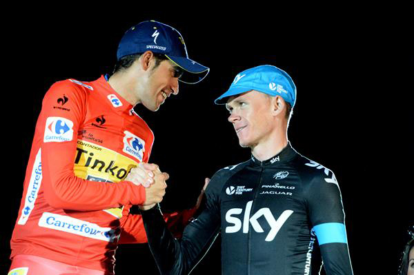 Alberto Contador and Chrius Froome