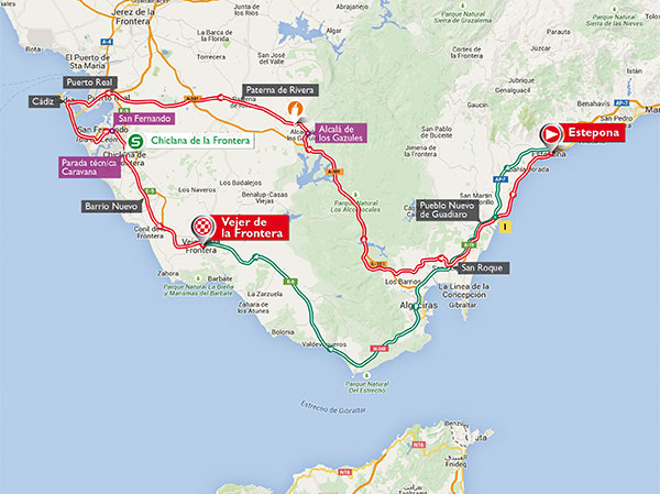 Vuelta stage 4 map