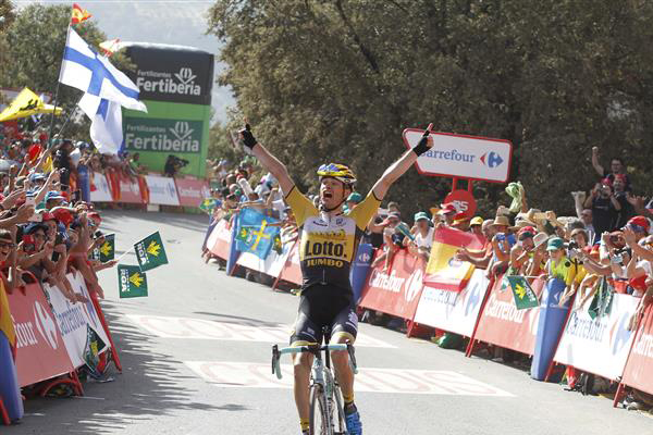 Bert-Jan Lindeman wins Vuelta stage 7