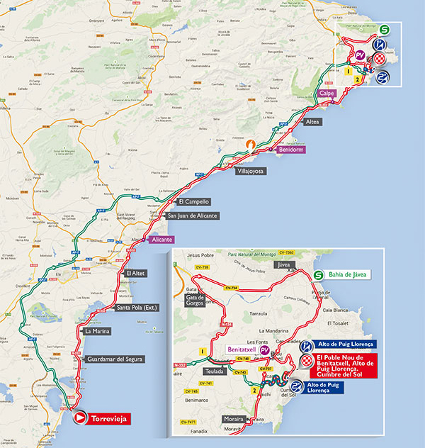 Vuelta stage 9 map