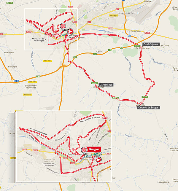 Vuelta stage 17 map