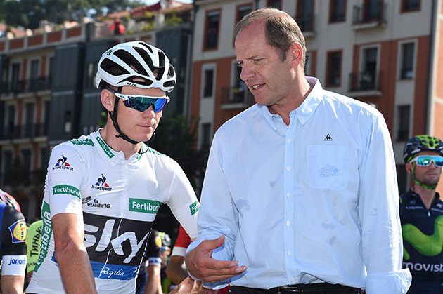 Chris Froome and Christian Prudhomme
