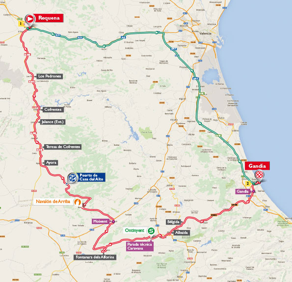 Vuelta stage 18 map