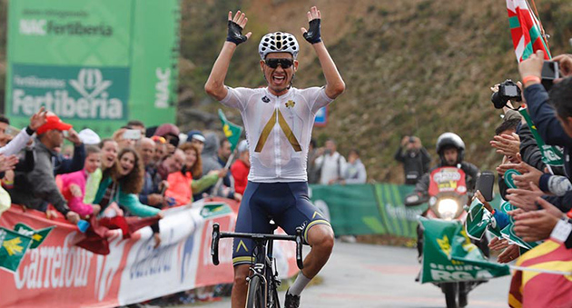 Stefan Denifl wins stage 17 of the 2017 Vuelta
