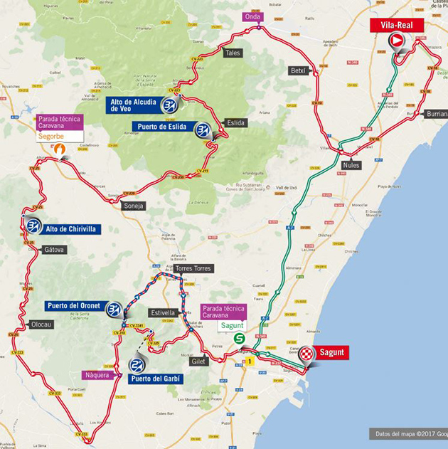 Vuelta stage 6 map