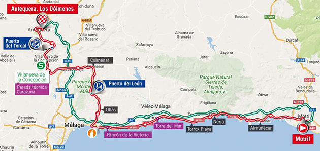 Vuelta stage 12 map