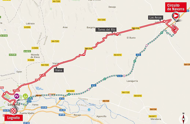 Vuelta stage 16 map