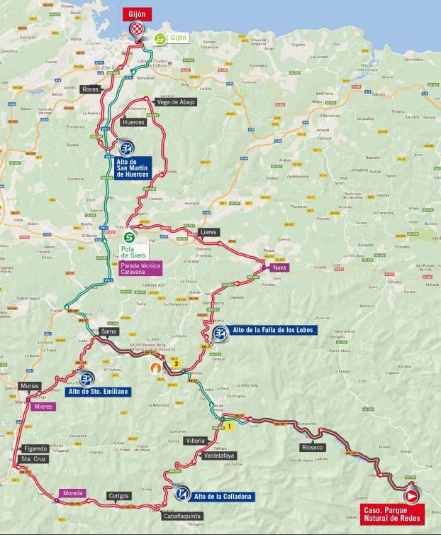 Vuelta stage 19 map