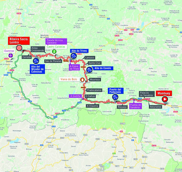Vuelta stage 11 map