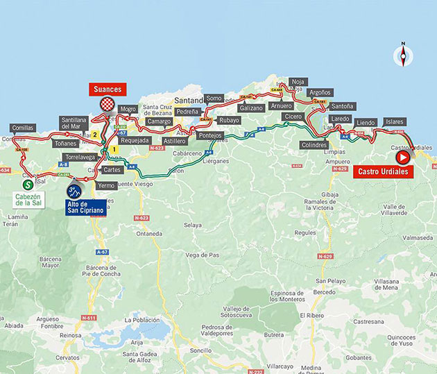 Vuelta stage 10 map