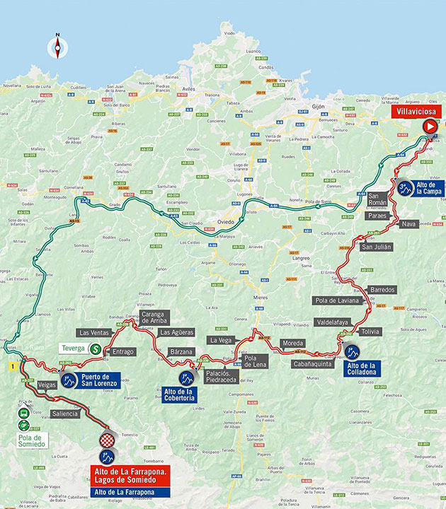 2020 Vuelta a Espana stage 11 map