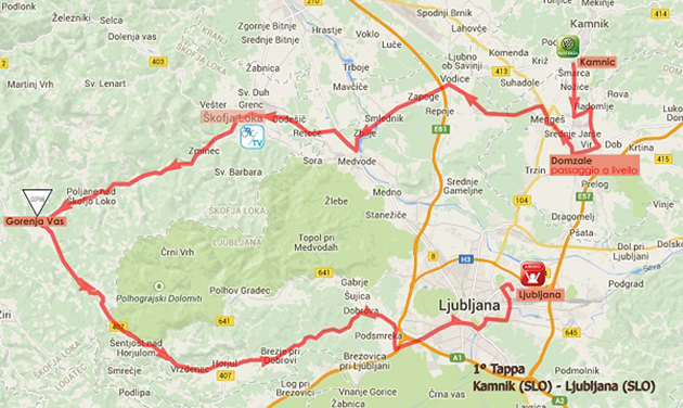 Giro Rosa stage 1 map