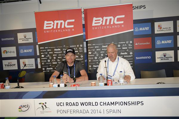 Cadel Evans and Jim Ochowicz
