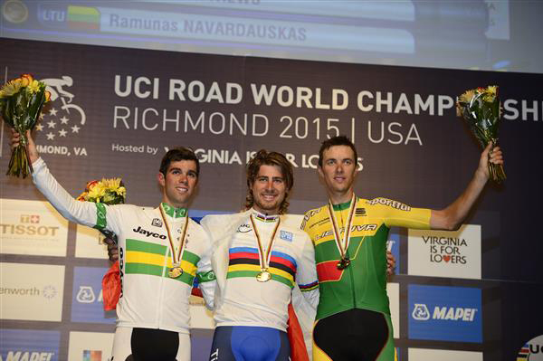Men's world championships podium