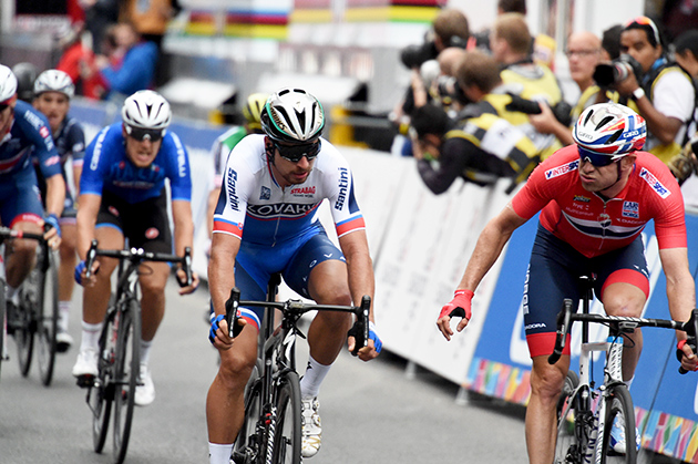 Alexander kristoff and Peter Sagan