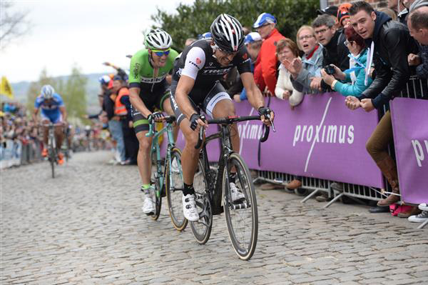 Fabian Cancellara attacks on the Oude Kwaremont