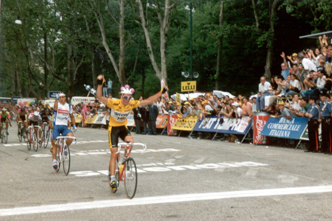 Cipollini wins the final stage of the 1991 Giro d'Italia