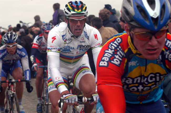Cipollini in the 2003 Tour of Flanders