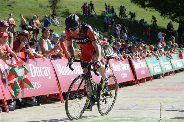 Cadel Evans in Stage 11 of the 2014 Vuelta