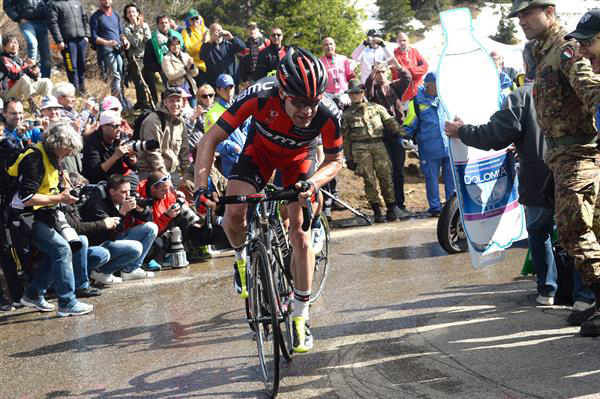 Cadel Evans in the 2014 Tour of Italy