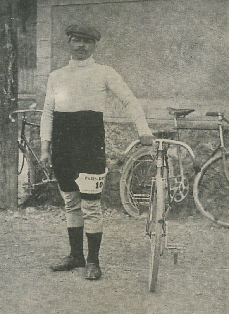 Maurice Garin at the start of the 1898 Paris-Roubaix