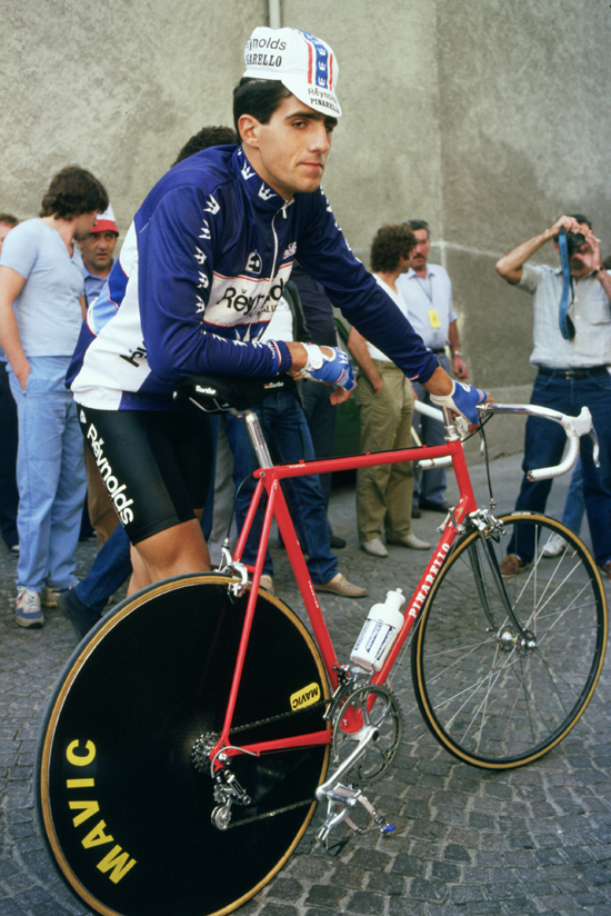 Indurain at the 1985 Baracchi Trophy