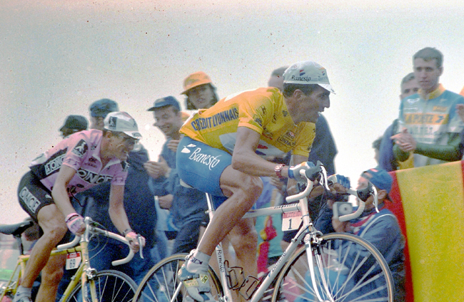 Indurain and Zulle in the 1995 Tour de France
