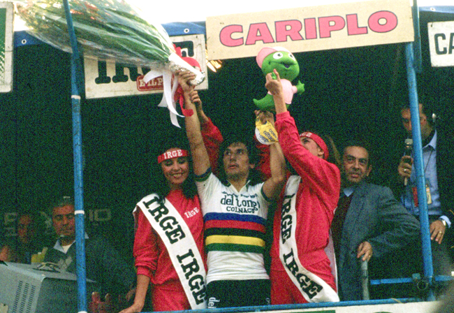 Saronni on the 1982 Giro di Lombardia podium