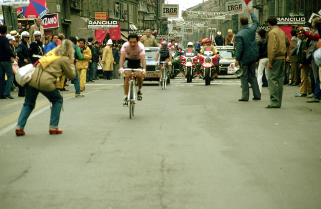 Sarooni rides the 1983 Giro d'Italia stage 13 time trial