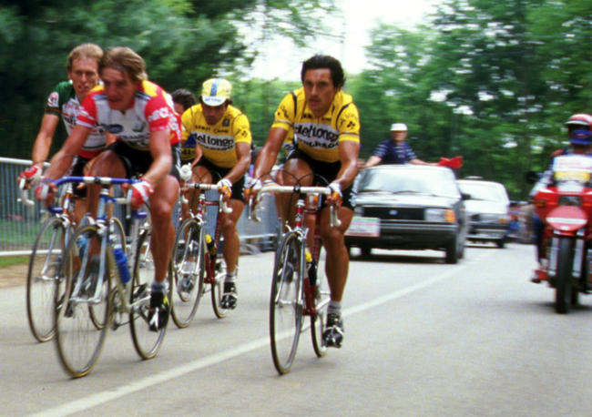Saronni racing the 1985 Giro del Veneto