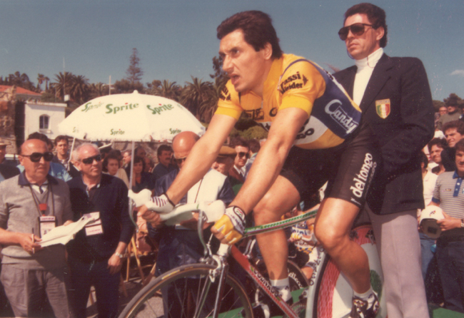 Saronni at the 1987 Giro d'Italia prologue