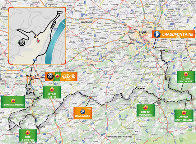Gp Wallonie map