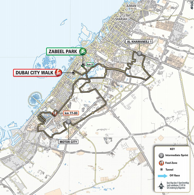 UAE Tour stage 4 map