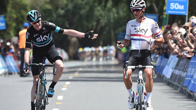 Chris Froome andPeter Kennaugh
