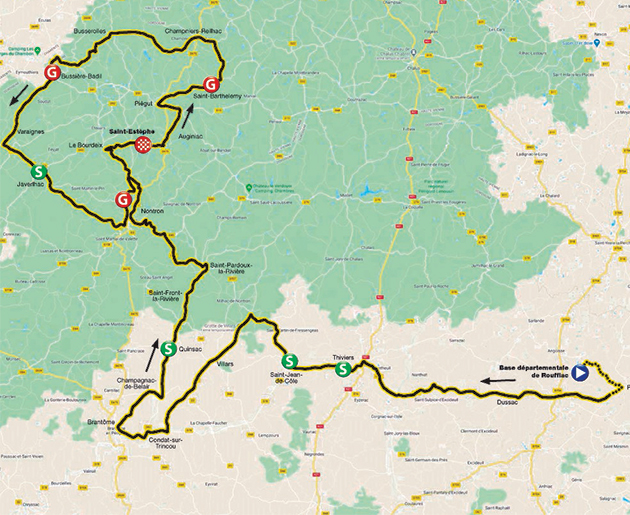 Tour du Limousin stage 2 map