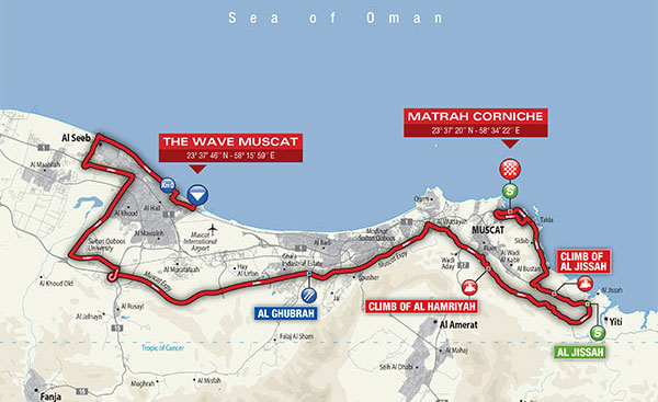 Tour of oman stage 6 map