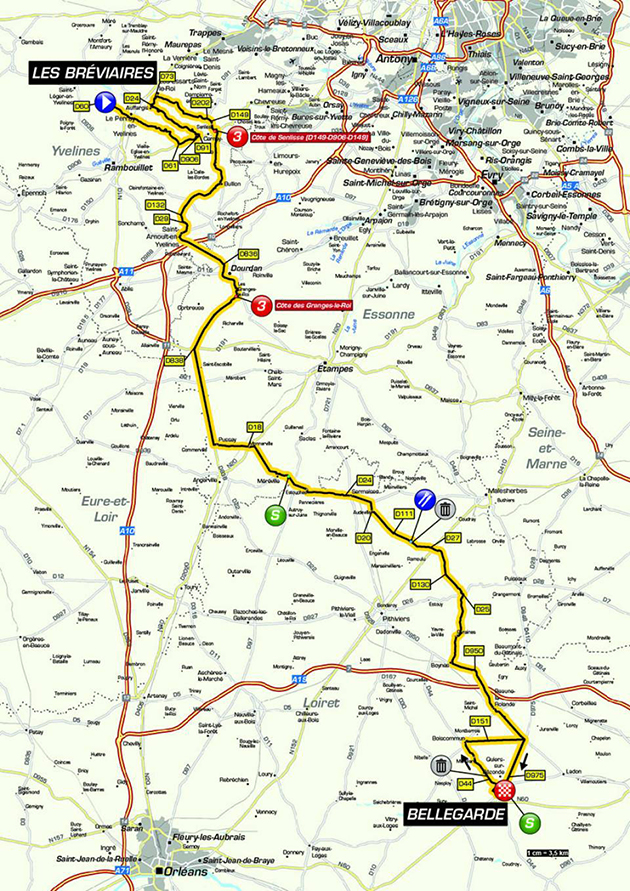Paris-Nice stage 2 map