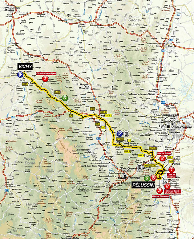 Paris-Nice stage 4 map