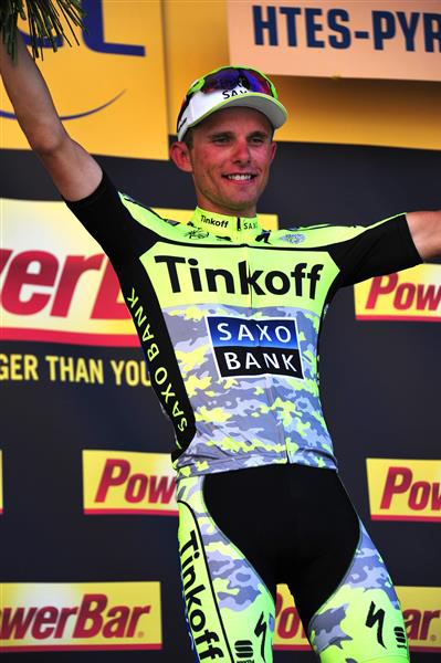 Stage winner Rafal Majka