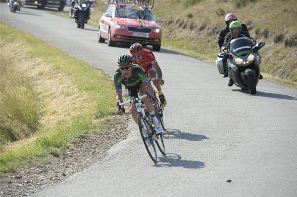 Thomas Voeckler and Luis Angel mate