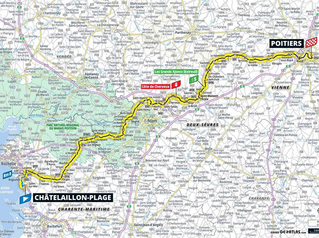 Tour de France stage 11 map