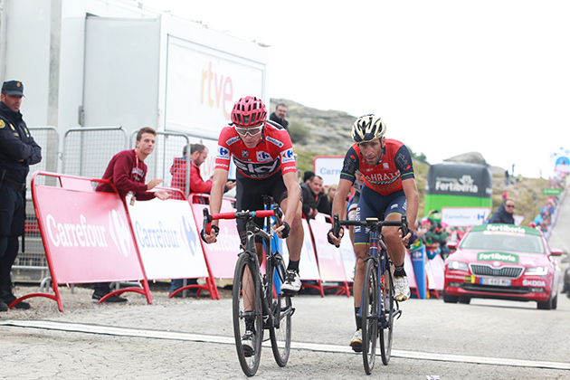 Chris Froome and Vincenzo Nibali
