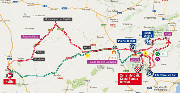 Vuelta stage 8 map